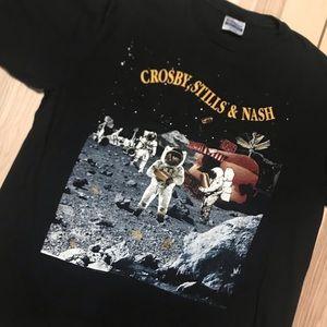 Vintage '90 Crosby Stills & Nash Live It Up Shirt